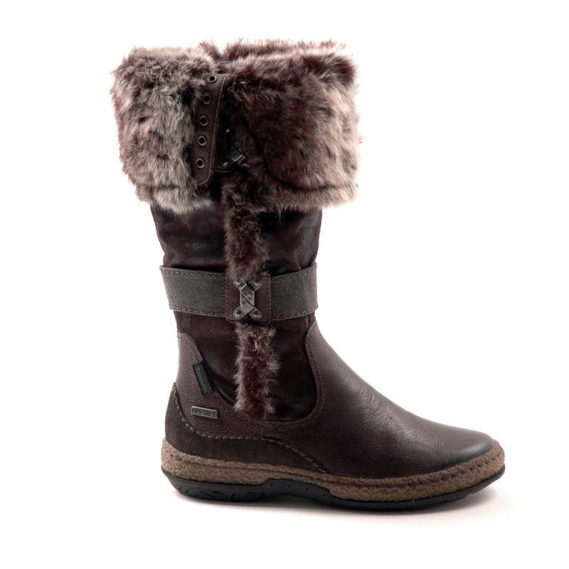 Tamaris vinterstøvler med råt look!